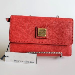 Dooney & Bourke Belvedere Flap Leather Wallet RED
